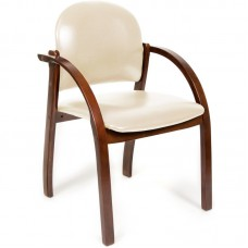 Кресло для посетителей Chairman CH 659 бежевое, темный орех