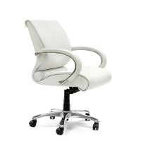 Кресло руководителя Chairman CH 444 кожа белая