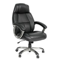 Кресло руководителя Chairman CH 436 кожа черная