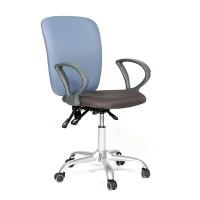 Кресло для персонала Chairman CH 9801 серо-голубое