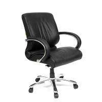 Кресло руководителя Chairman CH 444 кожа черная