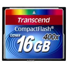 Карта памяти Compact Flash 16GB 400x Transcend (TS16GCF400)