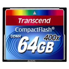 Карта памяти Compact Flash 64GB 400x Transcend (TS64GCF400)