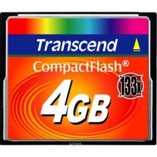 Карта памяти Compact Flash 4GB 133x Transcend (TS4GCF133)