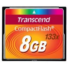 Карта памяти Compact Flash 8GB 133x Transcend (TS8GCF133)