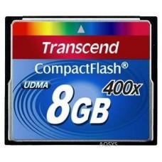 Карта памяти Compact flash 8GB Transcend 400X (TS8GCF400)