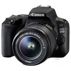 Зеркальный фотоаппарат Canon EOS 200D Kit EF-S 18-55mm III Black
