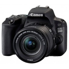 Зеркальный фотоаппарат Canon EOS 200D Kit EF-S 18-55mm IS STM Black