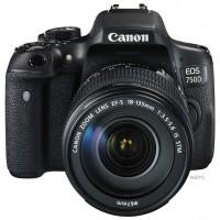 Зеркальный фотоаппарат Canon EOS 750D Kit 18-55mm IS STM Black