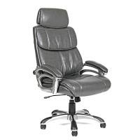 Кресло для руководителя Chairman CH 433 экокожа серая
