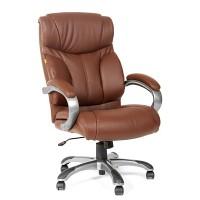 Кресло руководителя Chairman CH 435 кожа коричневая