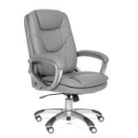 Кресло руководителя Chairman CH 668 Экокожа Cерая