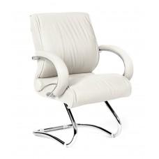 Кресло для посетителей Chairman CH 445 кожа белое